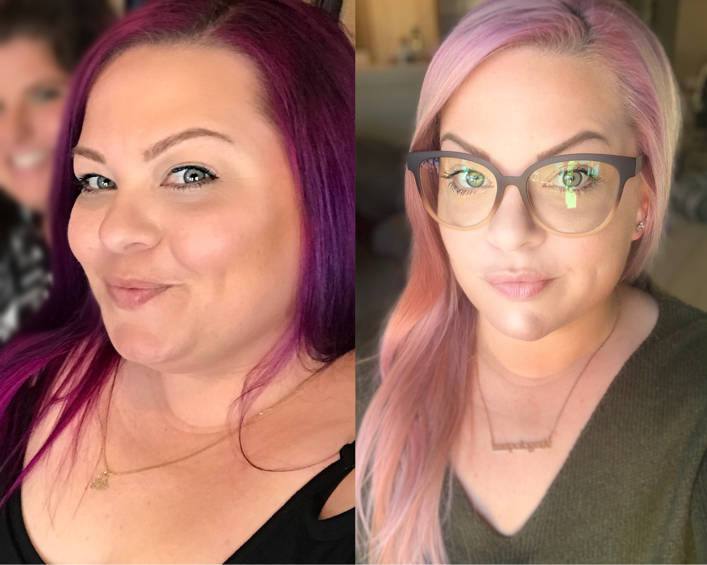 Side by side comparison of weightloss with 21 day meal plan